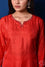 Red Bandhani on Silk Kurta with Mirror Work