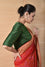 Green Bandhani on Gaji Silk Blouse