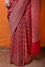 Gharchola Banarasi Bandhani Saree in Maroonish Red