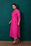Bandhani on Pure Silk Kurta in Hot Pink