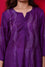 Waves Design Bandhani Pure Silk Kurta in Purple