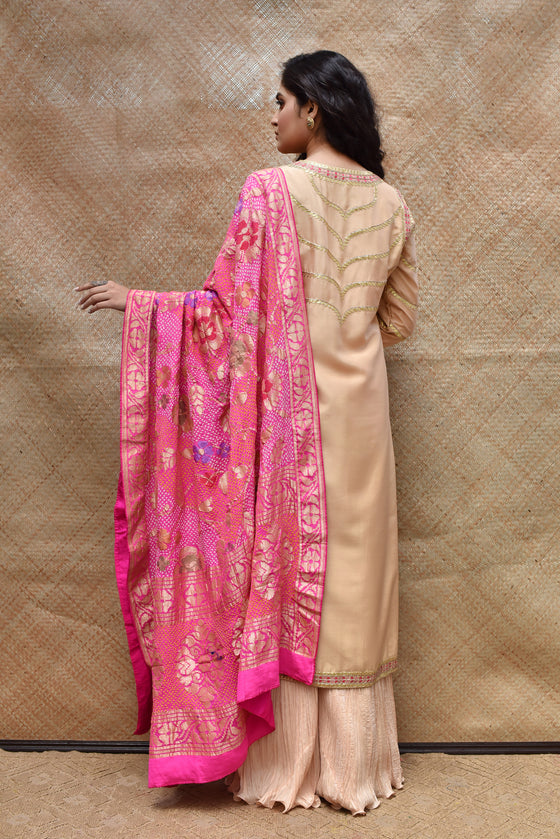 Beige Gota Patti Suit Set