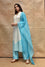 Arashi on Chanderi Suit Set - Sky Blue