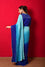 Crushed Georgette Saree - Shades of Blue