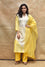Arashi on Chanderi Suit Set - Yellow