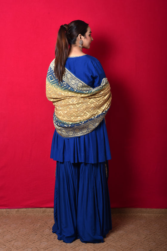 Blue Garara Set in Silk