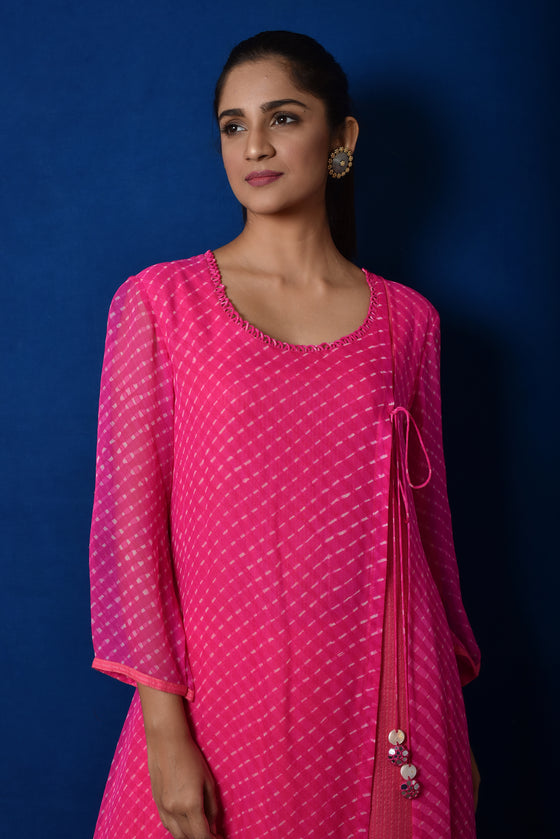 Mothara Side Slit Kurta in Pink