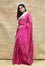 Bandhani on Organza Saree with Pattern on Pallu - Magenta