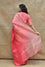 Shaded Organza Saree with Banarasi Bandhani Blouse - Peach
