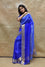 Organza Zari Border Saree with Bandhani Gota Patti Blouse - Blue