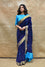 Floral Deep Blue Bandhani Saree