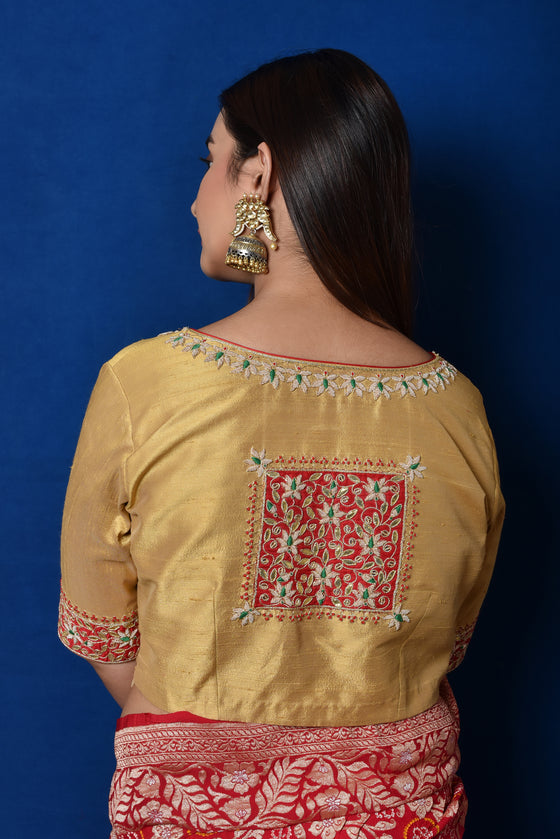 Gold Gota Patti Patch Blouse