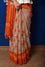 Classic Beige Orange Bandhani Saree in Georgette