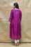 Intricate Bandhani on Pure Silk Kurta - Purple