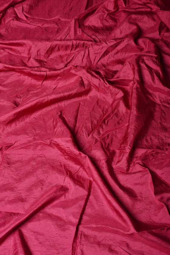 Bandhani on Organza Saree - Wine
