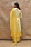Pure Silk Kurta Set with Bandhani on Organza Dupatta - Yellow