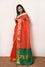 Organza Saree with Zari Border - Orange