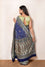 Deep Blue Light Meenakari Bandhani Saree