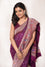 Broad Border Meenakari Saree in Wine