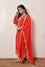 Red Banarasi Bandhani Kurta with Gota Patti