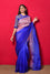 Shaded Organza Saree with Bandhani Blouse - Blue Pink