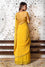 Bandhani on Crepe Saree - Yellow