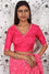 Bandhani on Crepe Saree - Pink
