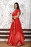 Red Arashi Organza Lehenga with Gota Patti