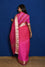 Organza Zari Border Saree with Bandhani Applique Blouse - Pink