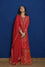 Hand Embroidered Gota Patti Suit Set in Red