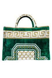 Athena Tote in Emerald Green