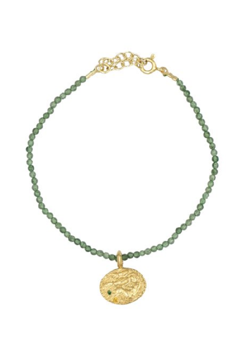 Sealstone Animal Emerald Bracelet