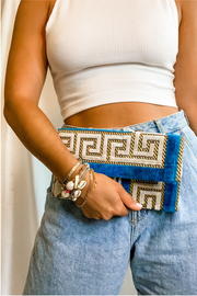 Niki Clutch in Aegean Blue