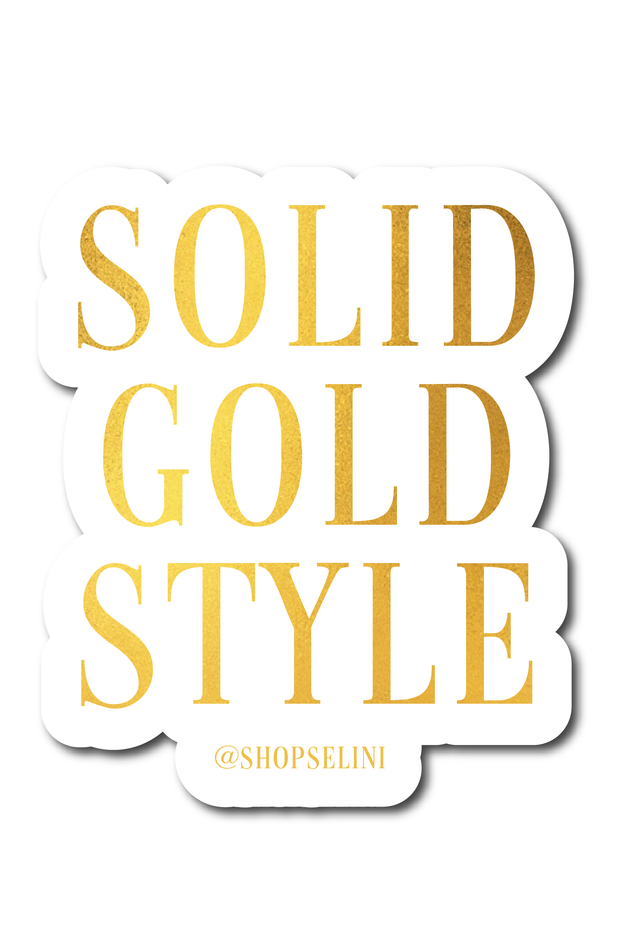 Solid Gold Style Sticker