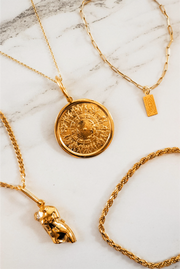 Shield of Achilles Pendant Necklace