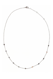 Penny Necklace in White Gold
