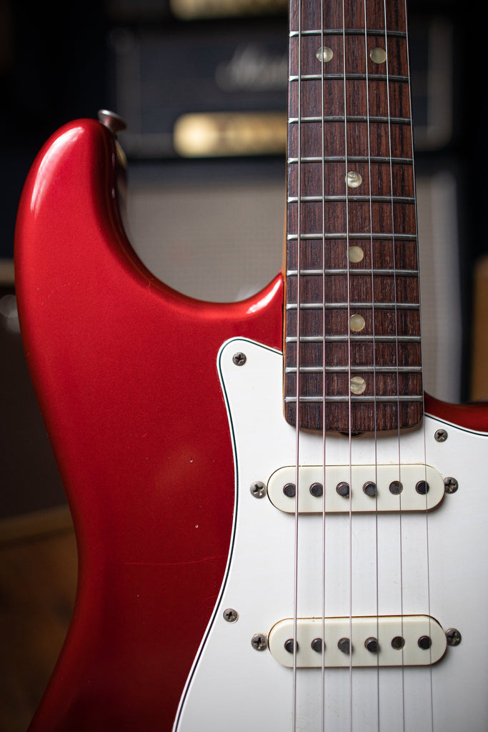 candy apple red guitar