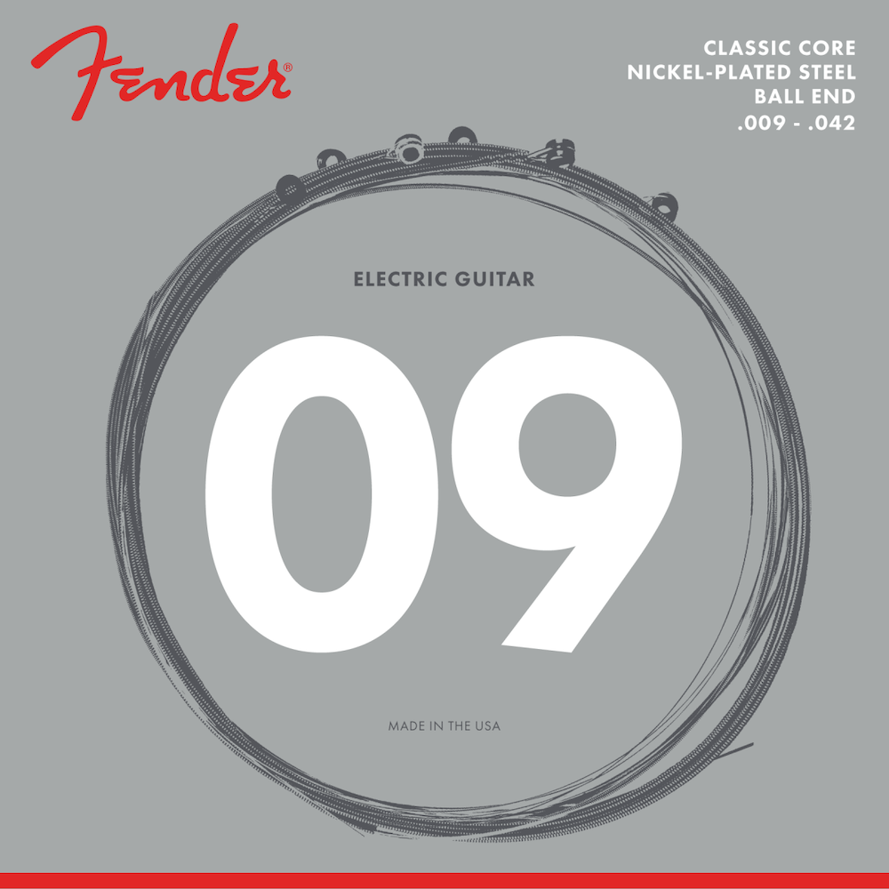 Fender Classic Core Vintage Nickel Ball End Electric Guitar Strings -.009-.042 Light - Walt Grace Vintage