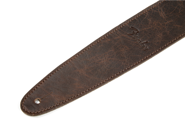 "Fender Artisan Crafted Leather Guitar Strap 2.5"" - Brown - Walt Grace Vintage"