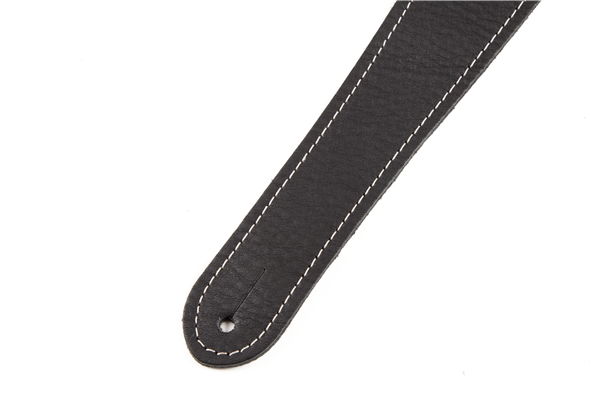Fender Monogram Leather Guitar Strap - Black - Walt Grace Vintage
