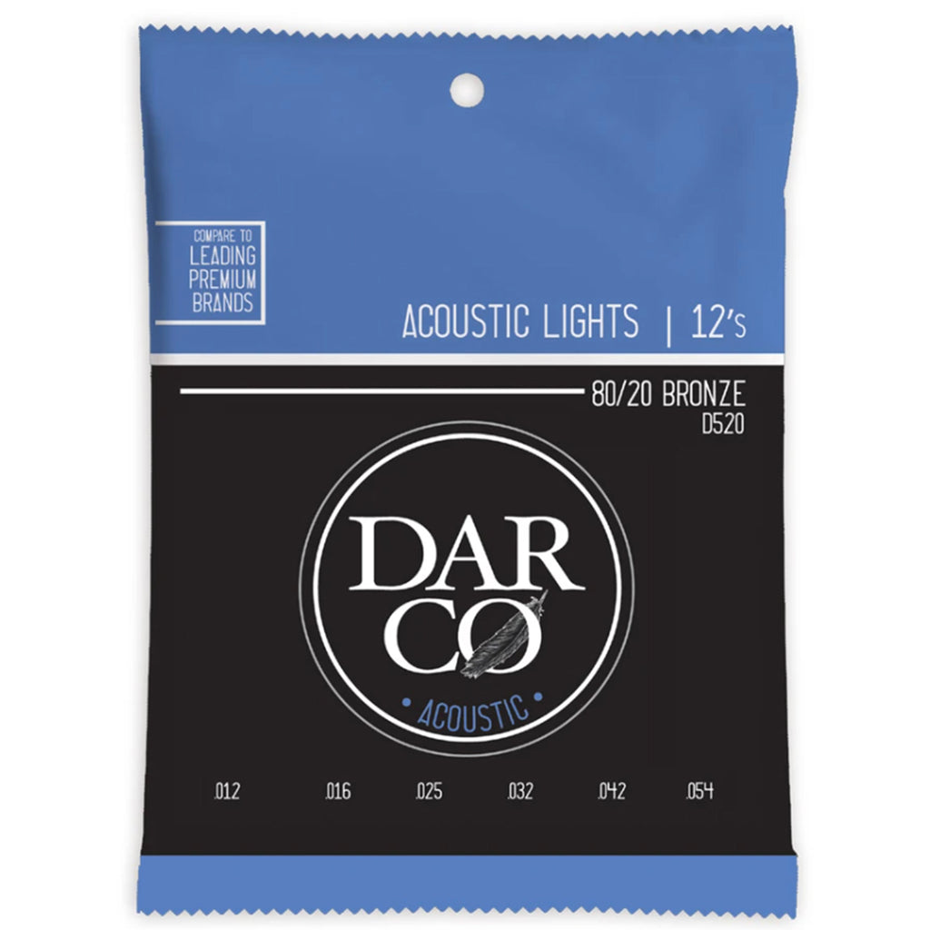 Darco Acoustic Strings Light 12's - Walt Grace Vintage