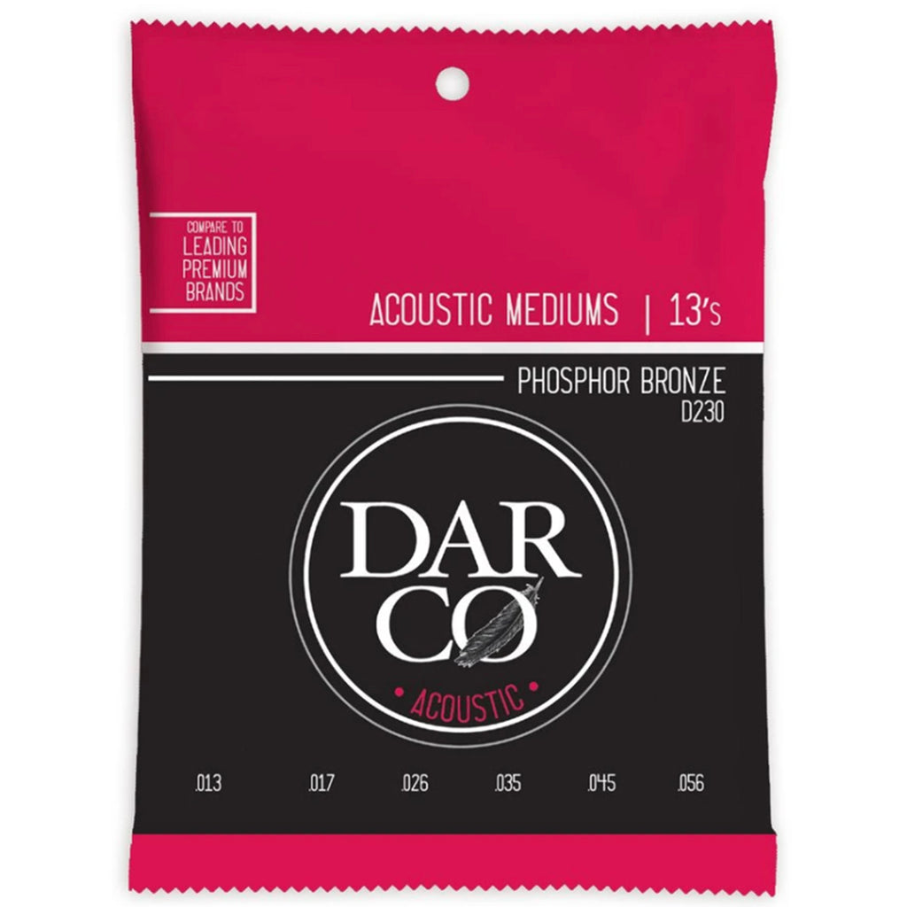 Darco Acoustic Strings Medium 13's - Walt Grace Vintage