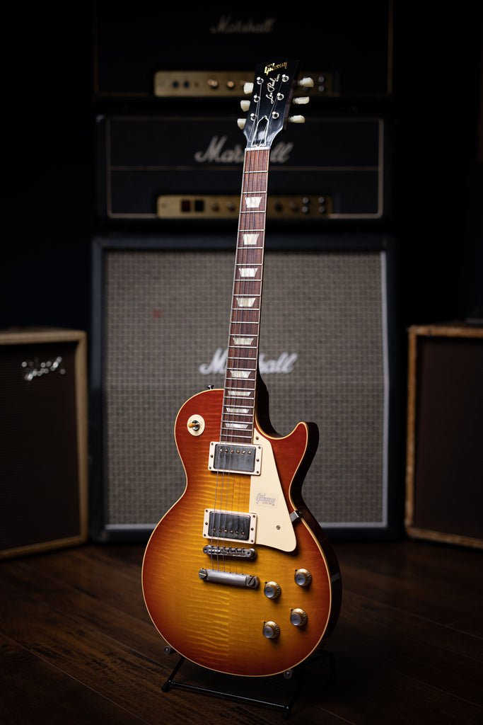 Gibson Custom Shop 1960 Les Paul Reissue Electric Guitar - VOS Washed Cherry Burst - Walt Grace Vintage