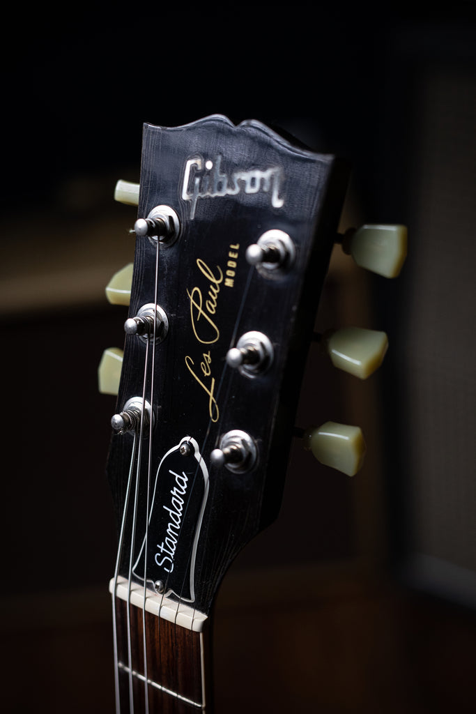 1989 Gibson Les Paul Standard Electric Guitar [Signed by Ace Frehley] - Ebony - Walt Grace Vintage