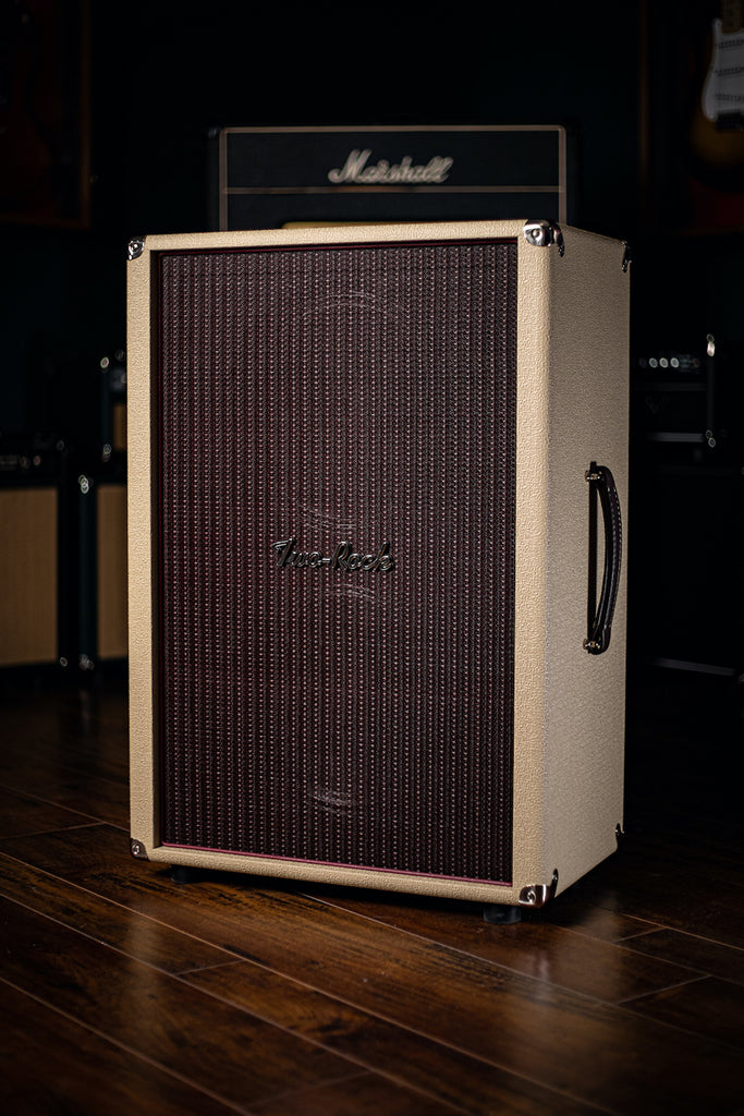 Two-Rock 12-65B 2x12 Extension Cabinet - Blond Tolex, Oxblood Grill Cloth