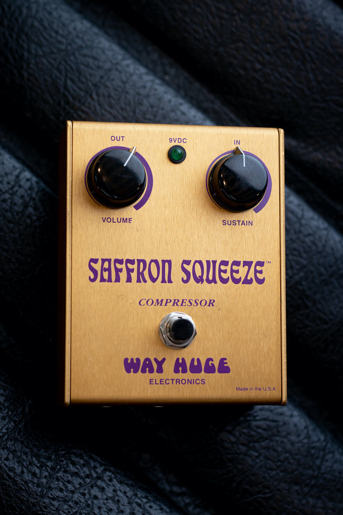 Used Way Huge Saffron Squeeze Compressor Pedal - Walt Grace Vintage