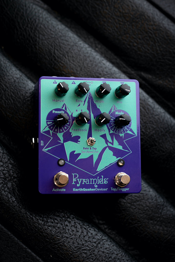 EarthQuaker Devices Pyramids Stereo Flanger Pedal - Walt Grace Vintage