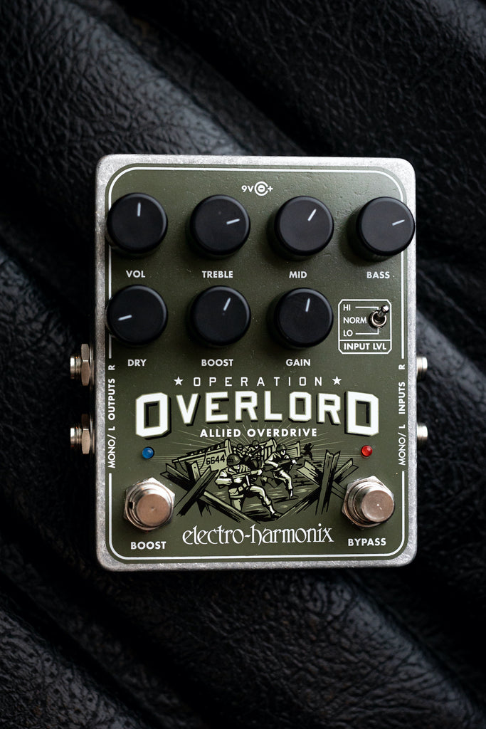 Electro-Harmonix Operation Overlord Allied Overdrive Pedal - Walt Grace Vintage