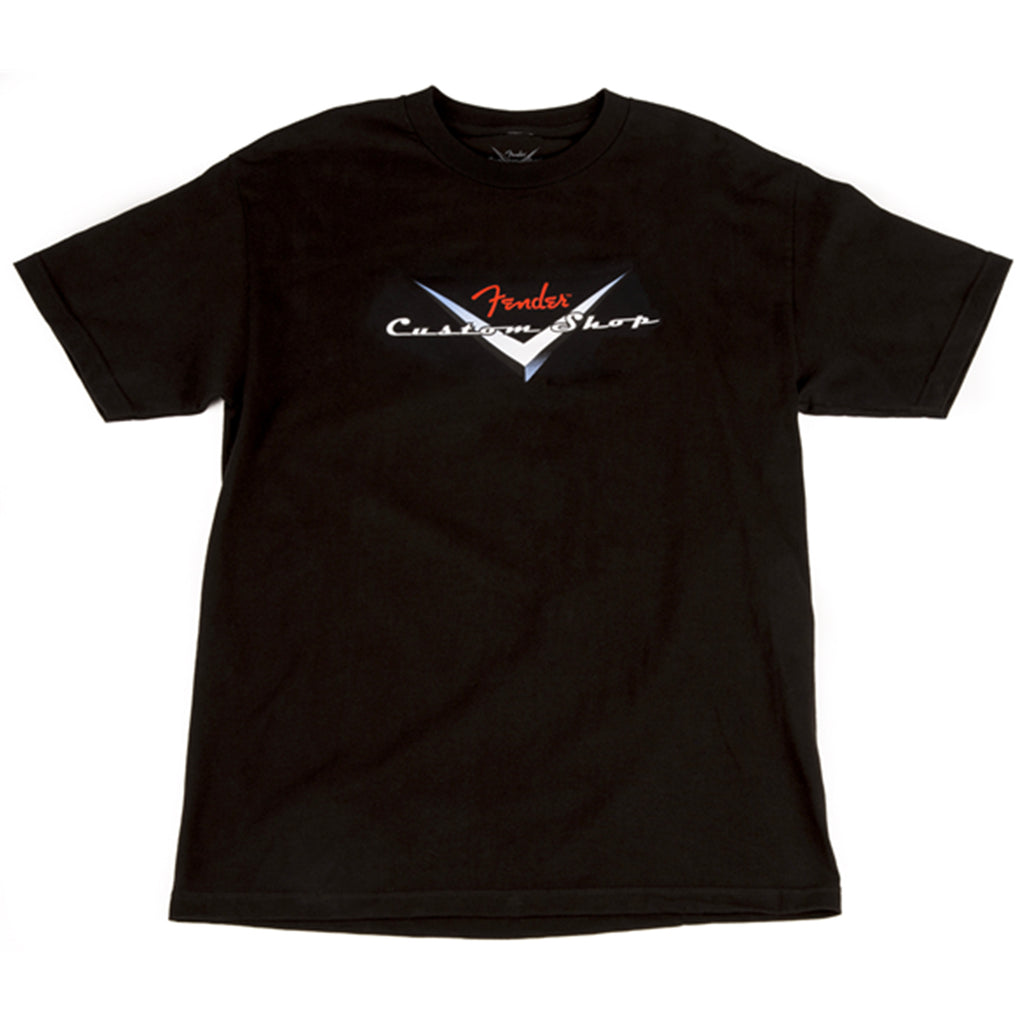 Fender Custom Shop T-Shirt - Black - Walt Grace Vintage