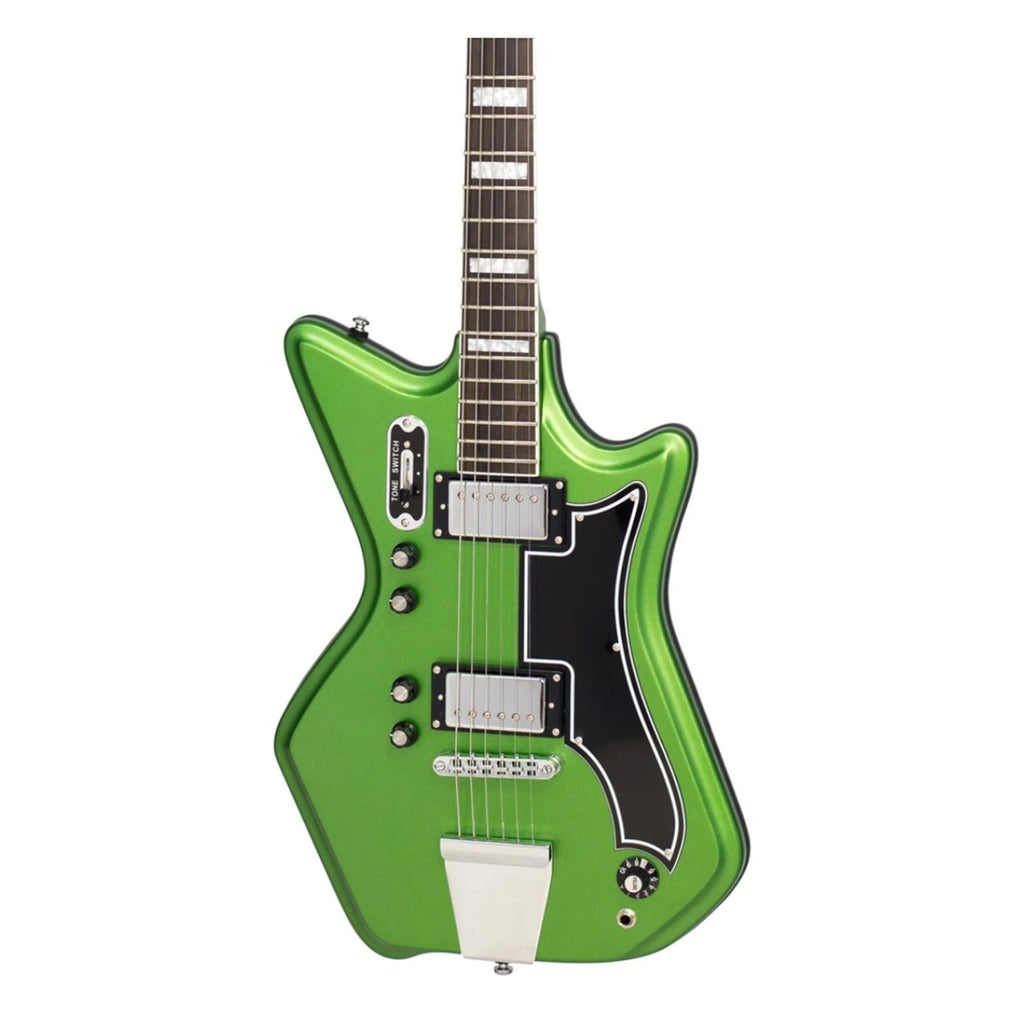 Airline 59 2P Electric Guitar - Satin Candy Green - Walt Grace Vintage